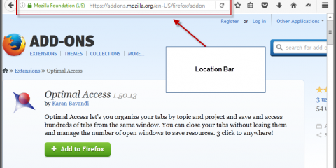 firefox location bar