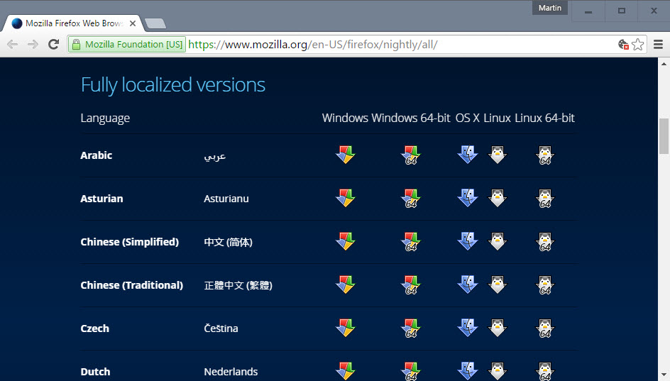 firefox-nightly-localized-versions-download