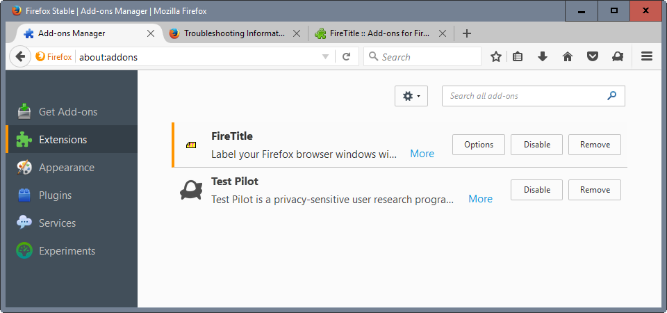 FireTitle: Label Firefox window titles and profiles for easy