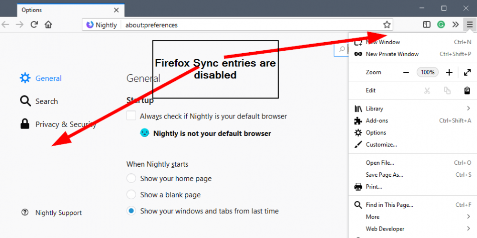 firefox-sync-disabled