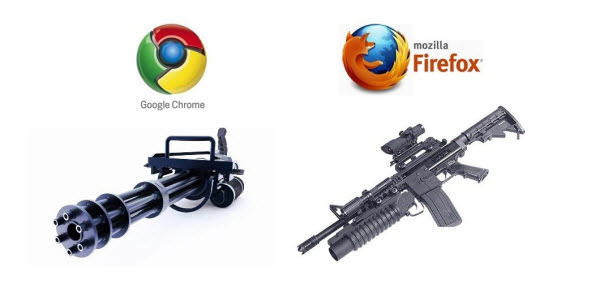 if browsers were guns