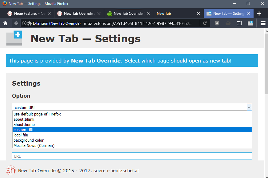 new-tab-override