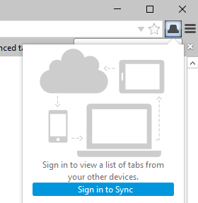 synced tabs