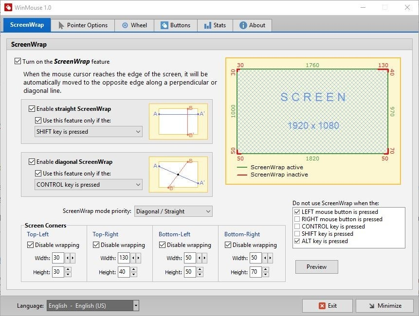 Customize the mouse pointer's movement and behavior with WinMouse