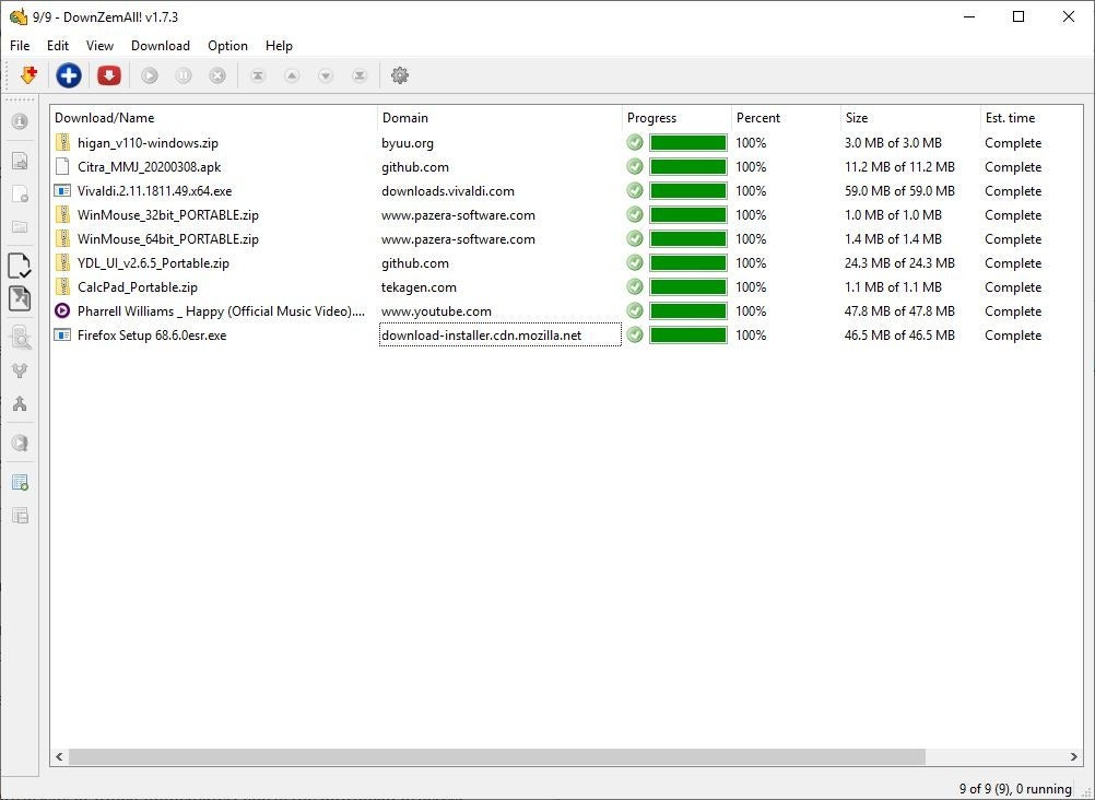 DownZemAll is an open source download manager for Windows, Linux and macOS