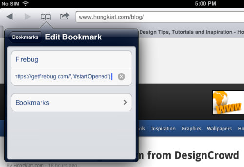 Firebug Bookmark Paste