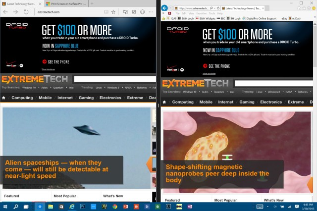 IE11 vs. Project Spartan, Microsoft's new browser