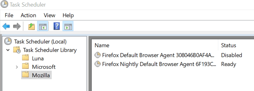 firefox-browser agent task disabled